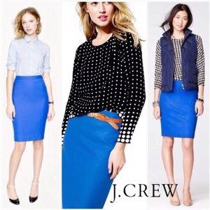 J. Crew No. 2 wool pencil skirt - Cobalt Blue - 2P